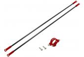 Blade 230 S - Aluminiowe mocowanie podpór ogonowych z podporami czerwone RKH