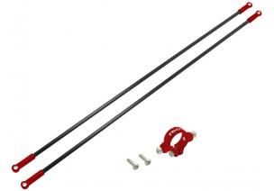 Blade 230 S V2 / 230 S - Aluminiowe mocowanie podpór ogonowych z podporami czerwone RKH