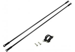 Blade 230 S V2 / 230 S - Aluminiowe mocowanie podpór ogonowych z podporami czarne RKH