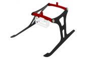 Blade Nano CP X / Nano CP S - Aluminiowo-karbonowe podwozie czerwone RKH