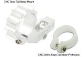 Blade mCP X/ mSR X mSR - Aluminiowe mocowanie silnika ogonowego srebrne RKH