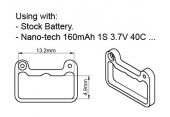 Blade mSR X - Delrinowe mocowanie akumulatora