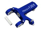 Blade 130 X - Aluminiowa skrzynia ogonowa na 4 łożyskach niebieska RKH