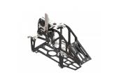 Blade 130 X - Aluminiowo-karbonowa rama główna srebrna LYNX