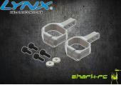 OXY 3 - Aluminiowe mocowanie serwa ogonowego srebrne LYNX