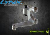 OXY 3 - Aluminiowa dźwignia sterowania wirnika ogonowego srebrna LYNX