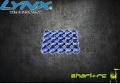 Aluminiowe podkładki pod śruby M2 niebieskie (20) LYNX