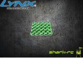 Aluminiowe podkładki pod śruby M2 zielone (20) LYNX