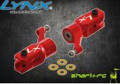 Blade 180 CFX - Aluminiowe okucia główne czerwone LYNX