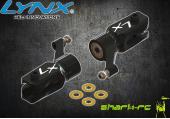 Blade 180 CFX - Aluminiowe okucia główne czarne LYNX