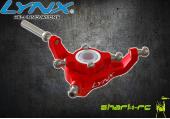 Blade 180 CFX - Aluminiowa tarcza sterująca czerwona LYNX