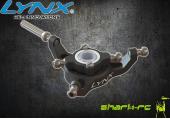 Blade 180 CFX - Aluminiowa tarcza sterująca czarna LYNX