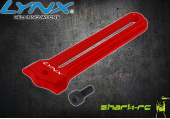 Blade 180 CFX - Aluminiowa prowadnica tarczy czerwona LYNX