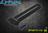 Blade 180 CFX - Aluminiowa prowadnica tarczy czarna LYNX