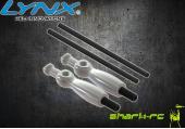 Blade 180 CFX - Aluminiowe mocowanie kabiny srebrne LYNX