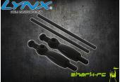 Blade 180 CFX - Aluminiowe mocowanie kabiny czarne LYNX