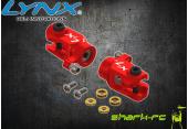 Blade 180 CFX - Aluminiowe okucia ogonowe czerwone LYNX