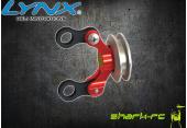 Blade 180 CFX - Aluminiowy slizgacz ogonowy czerwony