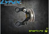 Blade 180 CFX - Aluminiowy ślizgacz ogonowy czarny LYNX