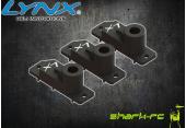 Blade 180 CFX - Aluminiowe górne obudowy serw tarczy H2060 czarne LYNX (3)