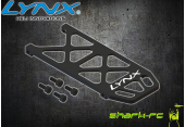 Blade 180 CFX - Aluminiowa płyta akumulatora czarna LYNX