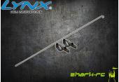 Blade 180 CFX - Aluminiowe mocowanie serwa ogonowego z popychaczem czarne LYNX