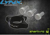 Blade 180 CFX - Aluminiowe mocowanie podpór ogonowych czarne LYNX