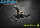 Blade 180 CFX - Aluminiowa dźwignia sterowania wirnika ogonowego czarna LYNX