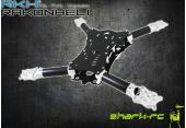 Blade 350 QX /2/3 - Aluminiowo - karbonowa rama główna srebrna RKH