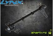 Blade 180 CFX - Aluminiowo-karbonowa pełna konwersja ogona na pasek wersja pro czarna LYNX