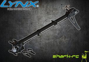 Blade 180 CFX / 180 CFX TRIO - Aluminiowo-karbonowa pełna konwersja ogona na pasek wersja pro czarna LYNX