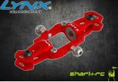 Blade 200 SR X - Aluminiowe okucia główne czerwone LYNX