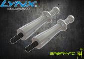 Blade 200 SR X - Aluminiowe mocowanie kabiny srebrne LYNX