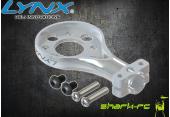 Blade 200 SR X - Aluminiowe mocowanie silnika ogonowego srebrne LYNX