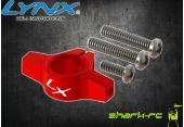 Blade 200 SR X - Aluminiowe mocowanie podpór ogonowych srebrne LYNX
