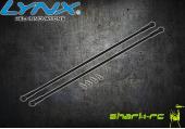 Blade 200 SR X - Aluminiowo-karbonowe podpory ogonowe czarne LYNX