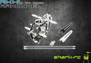 Blade mCP X BL - Aluminiowo - karbonowa Rama główna z podporami srebrna RKH