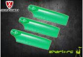 OXY 3 - Trzy łopatki ogonowe 47 mm zielone