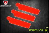 OXY 3 - Trzy łopatki ogonowe 47 mm pomarańczowe
