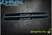 OXY 3 - Karbonowo-plastikowe łopaty główne 250 mm czarne
