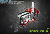 Blade Nano CP S - Aluminiowo-karbonowa rama główna czerwona RKH
