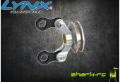 Blade 180 CFX - Aluminiowy slizgacz ogonowy srebrny LYNX