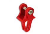 Blade 130 X - Aluminiowa prowadnica popychacza ogonowego czerwona RKH