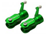 Blade 130 X - Aluminiowe okucia główne zielone RKH