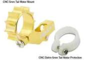Blade mCP X / mSR X / mSR - Aluminiowe mocowanie silnika ogonowego złote RKH
