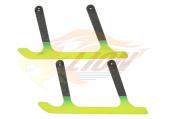 Blade mCP X BL - Zestaw naprawczy pełnej kabiny - płozy podwozia styl 7 żółto-zielone węglowe RKH