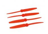 Komplet śmigieł 5045 dwa lewe + dwa prawe pomarańczowe LYNX