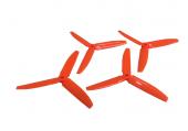 Komplet potrójnych śmigieł 5030 dwa lewe + dwa prawe pomarańczowe LYNX