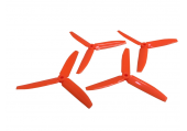 Komplet potrójnych śmigieł 5040 dwa lewe + dwa prawe pomarańczowe LYNX