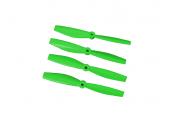 Komplet śmigieł bullnose 4045 dwa lewe + dwa prawe zielone LYNX